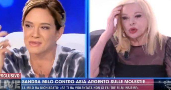 """Live non è la D'Urso, Asia Argento contro Sandra Milo: """"Vabbè ma questa è partita"""""""