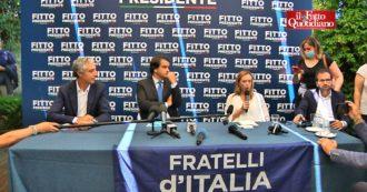 """Regionali Puglia, Meloni: """"Mai parlato di ticket Fitto-Altieri, ma vicepresidente è della Lega"""""""