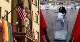 Russia, aprono i seggi per votare la riforma della Costituzione che vieta nozze gay. Ambasciata Usa espone bandiera arcobaleno