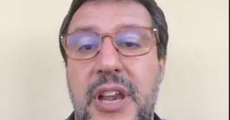 """Salvini dopo il comizio interrotto a Mondragone: """"I soliti delinquenti dei centri sociali hanno sfasciato tutto. Io non ho paura, torneremo"""""""