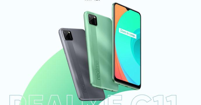 Realme C11, immagini e caratteristiche dello smartphone economico con batteria da 5000 mAh