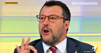"""Salvini: """"Tetto al contante? È una sciocchezza, gli italiani faranno acquisti all'estero"""""""