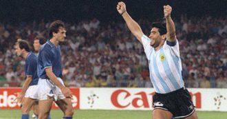 """Italia 90, 30 anni dopo – Azzurri eliminati, il racconto: """"Io, napoletano, ho tifato Maradona, non per l'Argentina né contro l'Italia"""""""