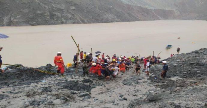 Myanmar, frana in una miniera di giada nel nord del Paese: almeno 113 vittime
