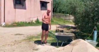 """Ciccio Graziani in versione muratore: """"Ce l'ho coi calciatori che si lamentano per il caldo. Li farei lavorare con me"""""""