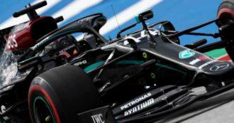 Mercedes 2020 con la livrea nera, per tutta la stagione di Formula 1 le Frecce d'Argento cambiano colore per combattere il razzismo