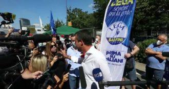 """Selvaggia Lucarelli riprende Salvini: """"Perché non indossa mascherina? Ci sono stati 35mila morti"""". Lui (circondato dai cronisti): """"Solo per parlare"""""""