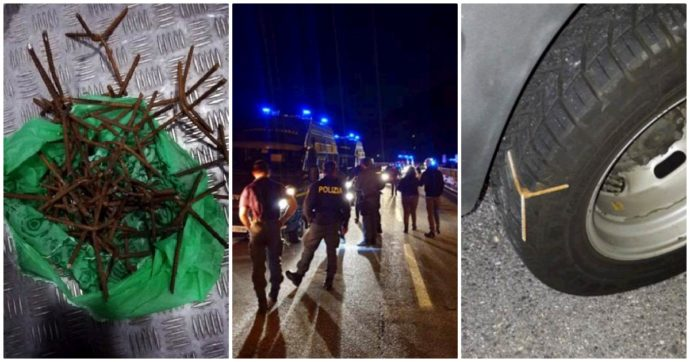 """Tav, chiodi in autostrada: forate le gomme dei mezzi della polizia diretti al cantiere di Chiomonte. Il questore: """"Fatto grave"""""""