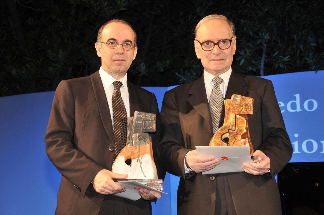©Claudio Leone/Lapresse04-07-2009 Zagarolo,Roma,ItaliaspettacoloEdizione Premio Goffredo Petrassi Nella Foto:Giuseppe Tornatore ,Ennio morricone