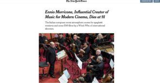 """""""Ennio Morricone non parlava inglese e componeva da Roma. È stato negli Usa per la prima volta a 78 anni"""": il ricordo del New York Times"""