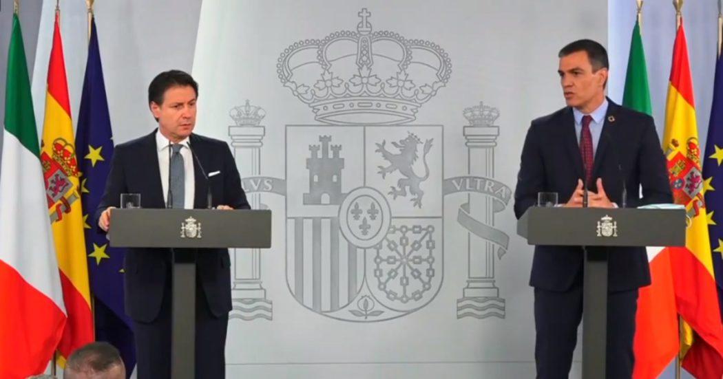 """Recovery fund, dopo Lisbona Conte in Spagna con Sanchez: """"Accordo prima di fine luglio"""". Anche Merkel spinge: """"Intesa entro l'estate"""""""