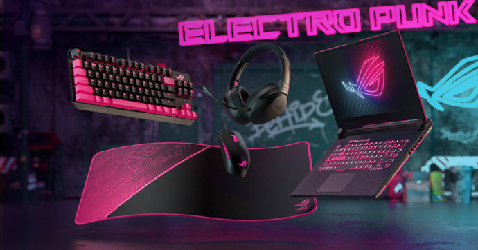ASUS ROG Stryx Electro Punk: le periferiche per il gaming diventano trendy
