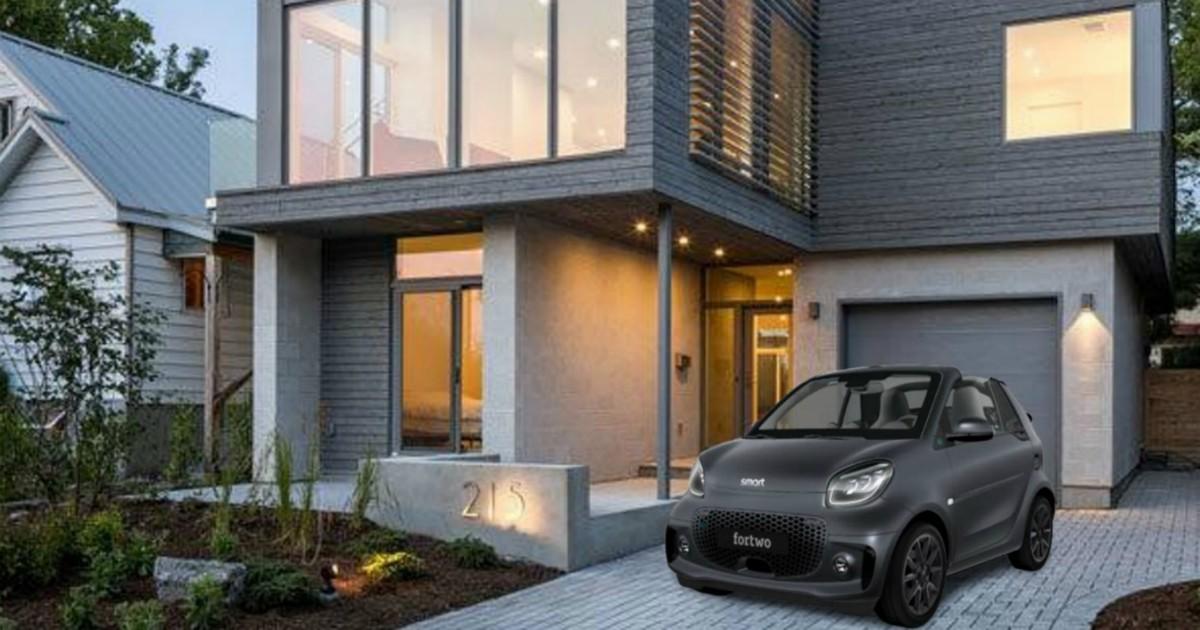 Smart fortwo EQ cabrio suitegrey, un'auto da cinema