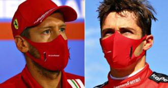 """Ferrari, Vettel a Leclerc dopo lo scontro: """"Non c'era spazio"""". Il monegasco: """"Tutta colpa mia"""""""