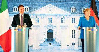 """Incontro Merkel-Conte. La cancelliera: """"Dagli italiani straordinaria disciplina. Sul Recovery fund troveremo un accordo"""". Il premier: """"Introdurre condizionalità impraticabili sarebbe una follia"""""""