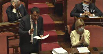 """Coronavirus, per Salvini l'emergenza è finita. E al Senato dice: """"Basta con il distanziamento sociale"""""""