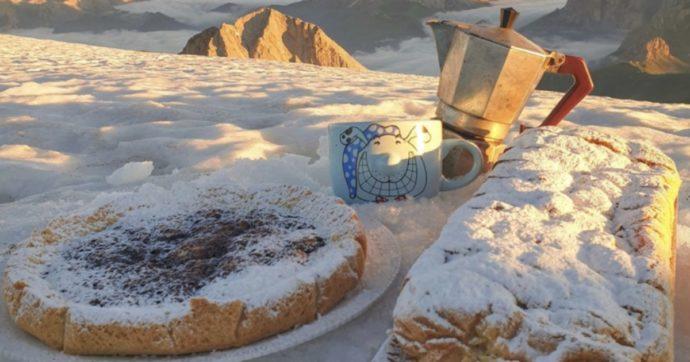 Neve sulla Marmolada: temperatura a -6 con dieci centimetri (e foto bellissime)