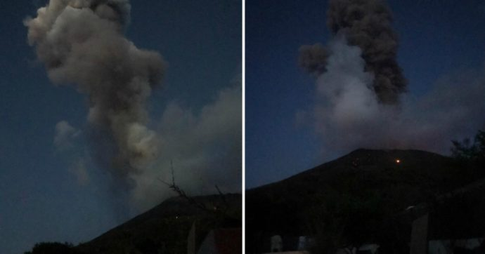 """Stromboli, due forti esplosioni dal vulcano. Il sindaco: """"Nessun danno, tutto sotto controllo"""""""