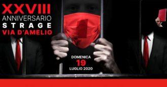 Paolo Borsellino, la celebrazione in streaming a 28 anni dalla strage di via D'Amelio: la diretta