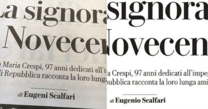 """Scalfari è diventato """"Eugeni"""": su Repubblica il refuso nella firma del fondatore (poi corretto)"""