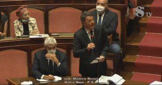 """Recovery Fund, anche Renzi in Senato elogia Conte: """"È stato bravo, se questa è la strada saremo al suo fianco e di chi sceglie l'Europa"""""""