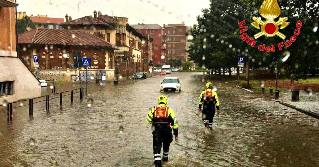 Maltempo Lombardia, nubifragio su Milano: esondato il Seveso. Ripresa la circolazione tra Cadorna e Bovisa.  Danni all'aeroporto di Bergamo, ma voli regolari