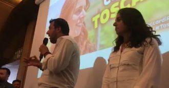 Regionali Toscana, l'incontro con Salvini e Ceccardi è al chiuso: pubblico senza mascherine né distanziamento – Le immagini