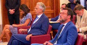 """Salvini al Senato senza mascherina: """"Non ce l'ho e non la metto"""". E partecipa in una sala all'evento di Sgarbi che dice: """"Non c'è più Covid"""""""
