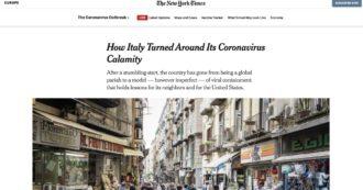 """Il New York Times elogia l'Italia: """"Da epicentro dell'incubo coronavirus a modello che dà una lezione anche gli Usa"""""""