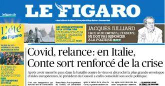 """Ponte di Genova, Le Figaro dedica la prima pagina a Conte: """"Esce rafforzato dalla crisi. L'inaugurazione ha un'aria di consacrazione"""""""