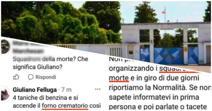 """Migranti a Udine, """"squadroni della morte"""" e """"forni crematori così non rompono più"""": le parole del responsabile della Protezione civile"""