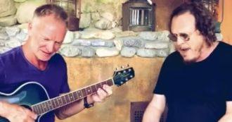 """Il duetto tra Zucchero e Sting, all'improvviso """"Fields of gold"""" in italiano"""