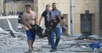 Beirut devastata dall'esplosione: visi insanguinati, urla e strade scomparse. La disperazione di una città senza pace