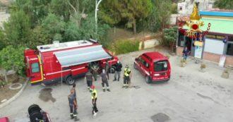 Mamma e figlio scomparsi sulla Messina-Palermo, le ricerche dei vigili del fuoco e dei volontari nella zona di Caronia