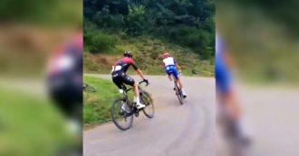 Chris Froome torna sulla bici ma viene insultato dai tifosi. E lui reagisce così