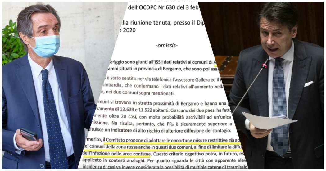 """Zona rossa Alzano-Nembro, nel verbale la conferma (già data da Conte) della richiesta del Comitato. Il governo prese tempo """"per valutare"""", la Regione si chiamò fuori"""