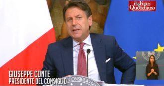 """Coronavirus, Conte: """"In Italia tasso contagi tra i più bassi in Europa. Stiamo facendo bene, ma proseguire con comportamento responsabile"""""""