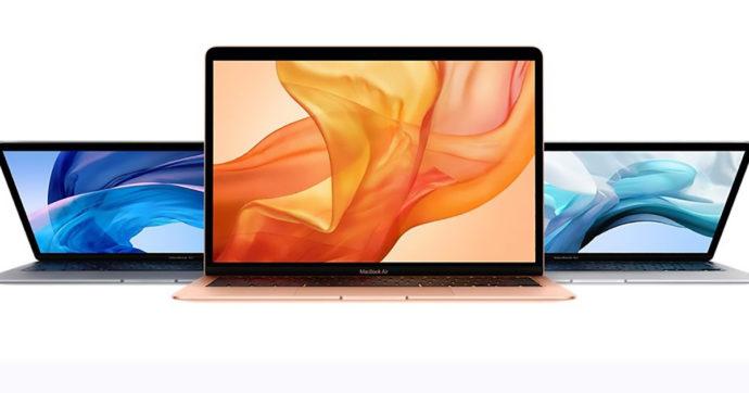 Apple MacBook Air, notebook ultra leggero da 13 pollici con 249 euro di sconto su Amazon