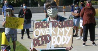 """Coronavirus, Usa: scuole come """"cavie"""" nella gestione del Covid. È caos sulle regole e i prof non vogliono tornare in classe"""