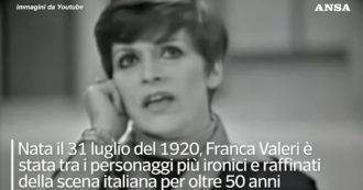 Morta Franca Valeri, aveva da poco compiuto 100 anni. Uno dei personaggi più ironici e raffinati della scena italiana