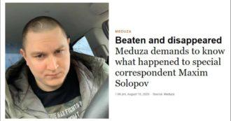 """Bielorussia, scomparso giornalista inviato per le elezioni: """"È stato pestato dalla polizia"""""""