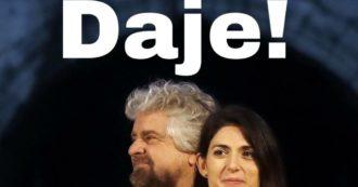 Beppe Grillo si schiera per la ricandidatura di Virginia Raggi a Roma: su Facebook la foto insieme alla sindaca