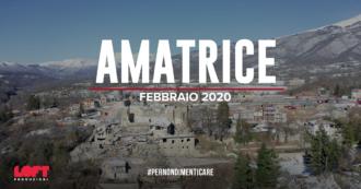 """Terremoto Centro Italia, le immagini con il drone di Amatrice e Accumoli. """"A distanza di quattro anni è ancora tutto fermo a quella notte"""""""