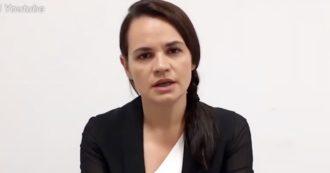 """Bielorussia, il nuovo videomessaggio di Svetlana Tikhanovskaya: """"Pronta ad agire da leader nazionale e guidare il Paese"""""""