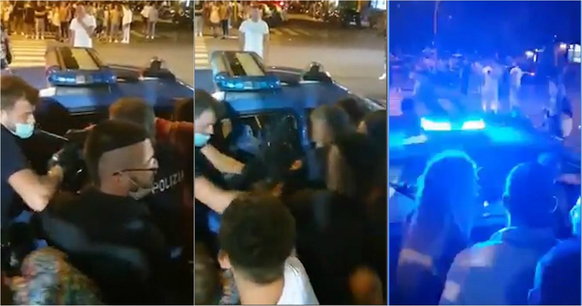 """Marina di Carrara, intervengono per sedare una rissa. Sassaiola e insulti contro gli agenti: """"Quattro… thumbnail"""