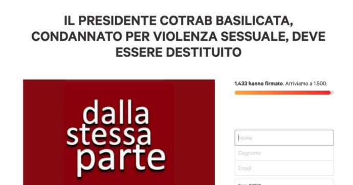 Condannato per violenza sessuale, è confermato ai vertici di Cotrab. Il caso di Potenza è osceno