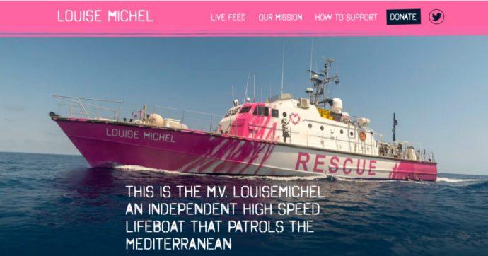 """Migranti, 89 persone salvate nel Mediterraneo dalla nave dell'artista Banksy: la storia della """"motovedetta rosa"""" Louise Michel"""