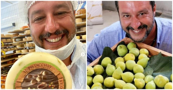"""Salvini senza mascherina nelle aziende alimentari, i Cobas: """"Rovina l'immagine della filiera e induce ad abbassare la guardia"""""""