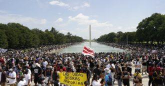 Washington in marcia contro il razzismo: oltre 50mila persone presenti. Il padre di Blake in testa al corteo