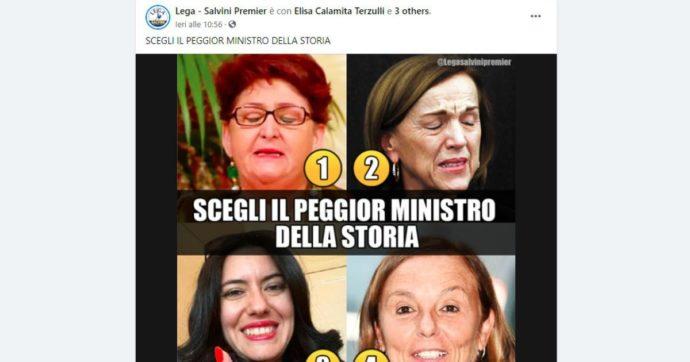 """""""Scegli il peggior ministro della storia"""": la Lega lancia il sondaggio su Facebook, ma ci sono solo donne"""
